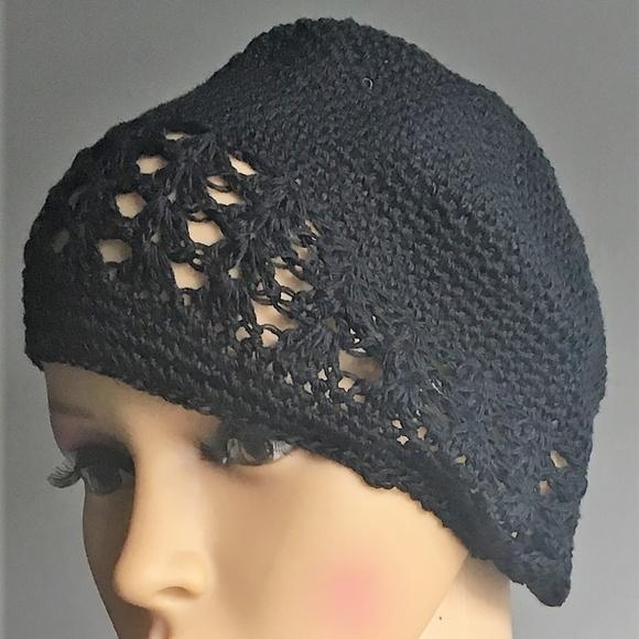 Accessories Black Crocheted Skull Cap Poshmark